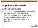 supplies materials