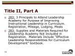 title ii part a4