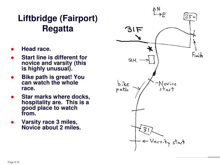 Liftbridge (Fairport) Regatta