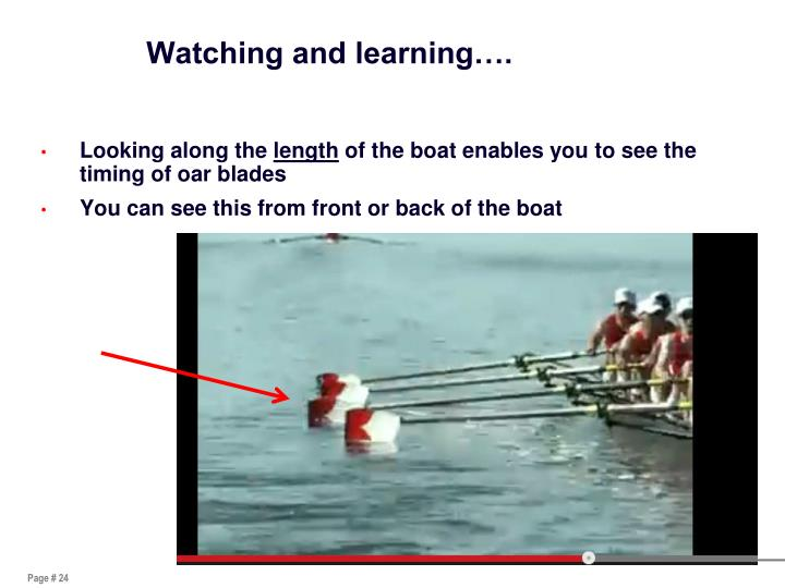 Watching and learning….