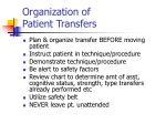 organization of patient transfers