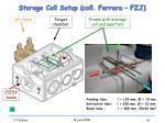 storage cell setup coll ferrara fzj