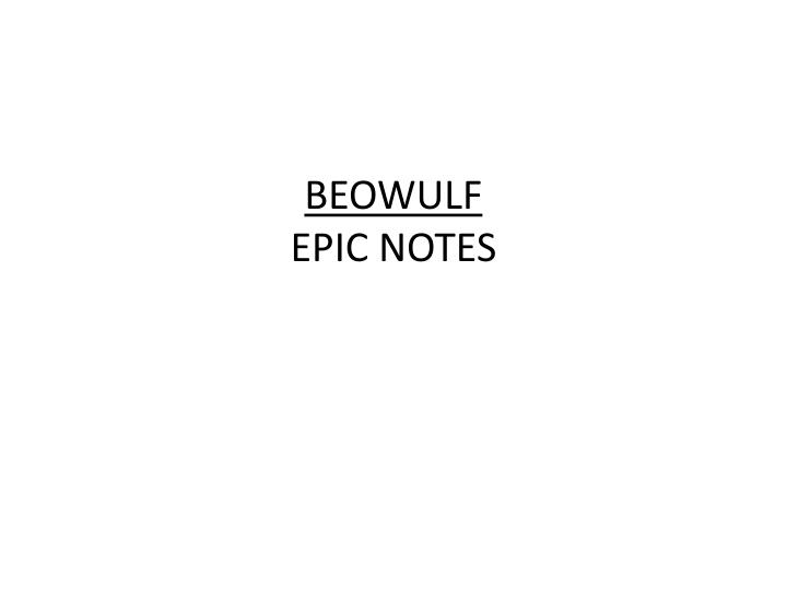 beowulf epic notes n.