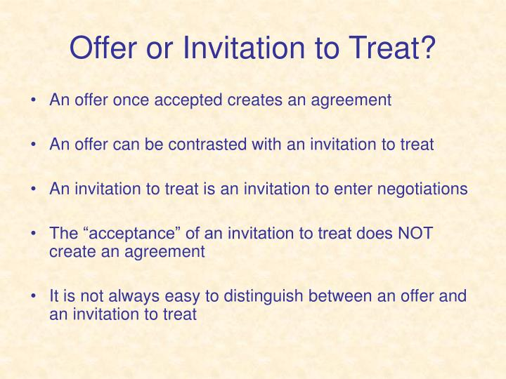 Ppt law of contract powerpoint presentation id3209810 offer or invitation to treat stopboris