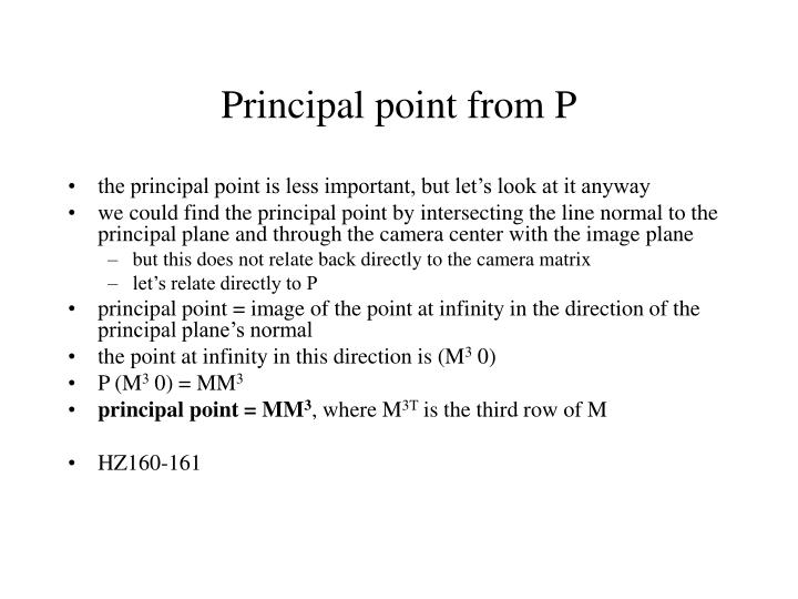 Ppt camera diagram powerpoint presentation id3209832 principal point from p ccuart Gallery