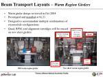 beam transport layouts warm region girders