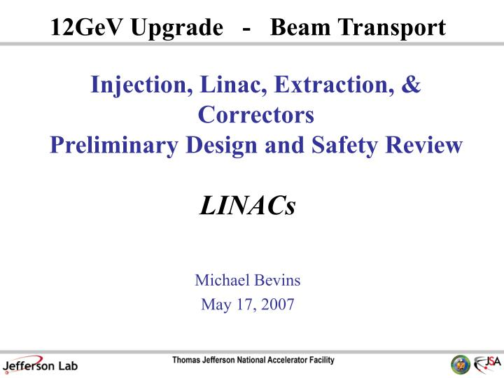 injection linac extraction correctors preliminary design and safety review n.