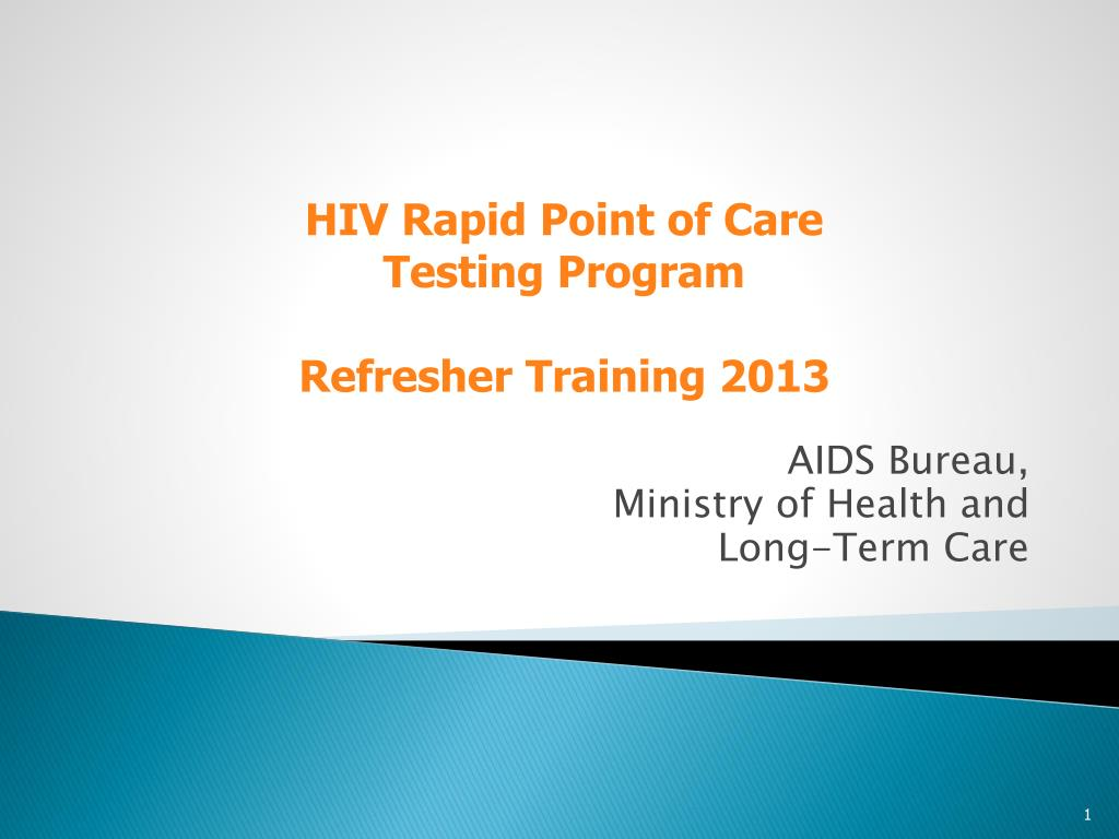 Ppt aids bureau ministry of health and long term care powerpoint