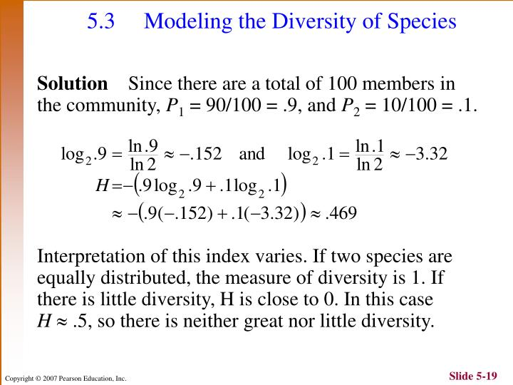 5.3  Modeling the Diversity of Species