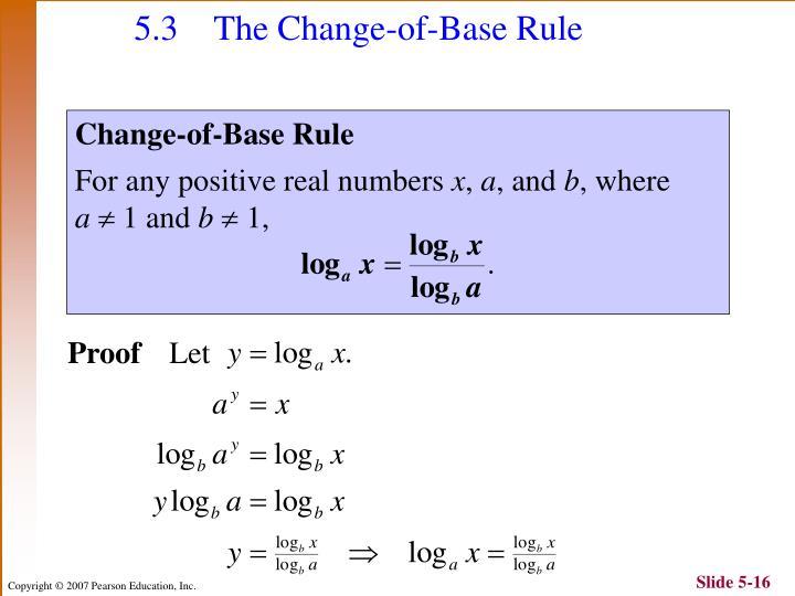 5.3 The Change-of-Base Rule