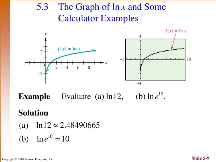 5.3 The Graph of ln