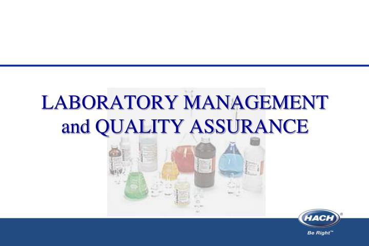 laboratory management and quality assurance n.