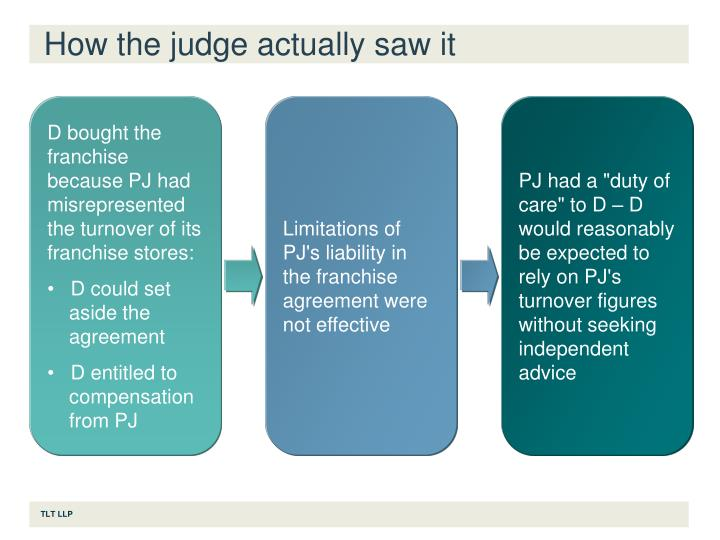 How the judge actually saw it