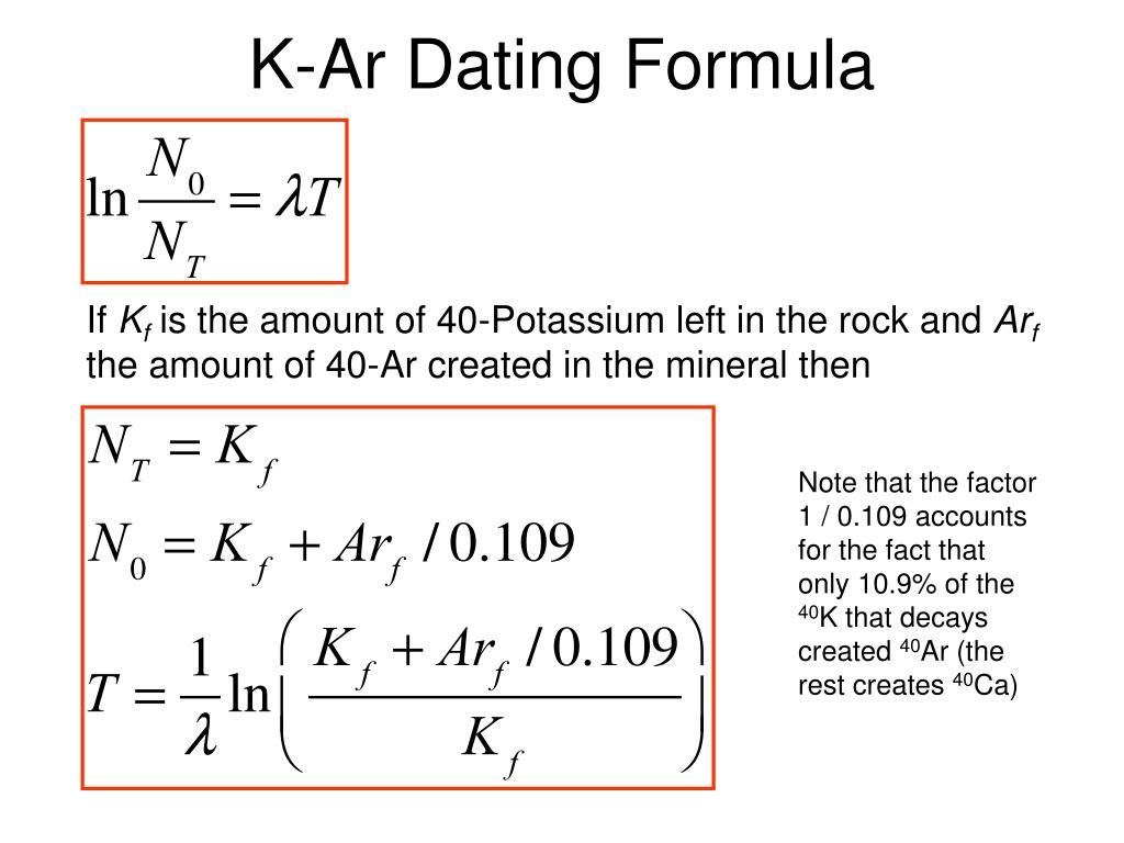 K/ar-40 dating