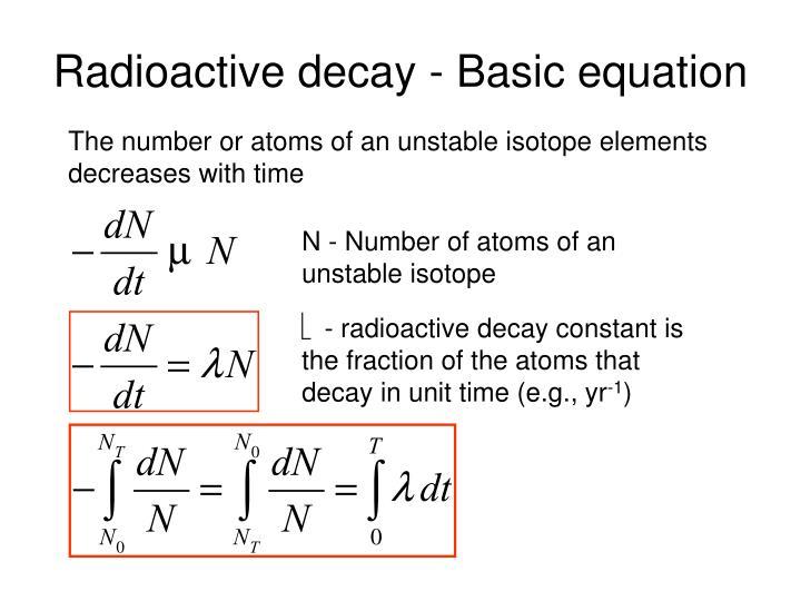 radiocarbon dating decay constant calculator