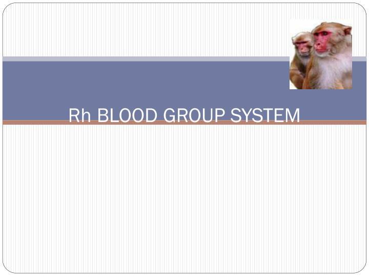 Rh blood group system