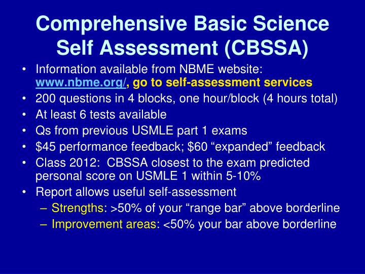 Comprehensive Basic Science Self Assessment (CBSSA)