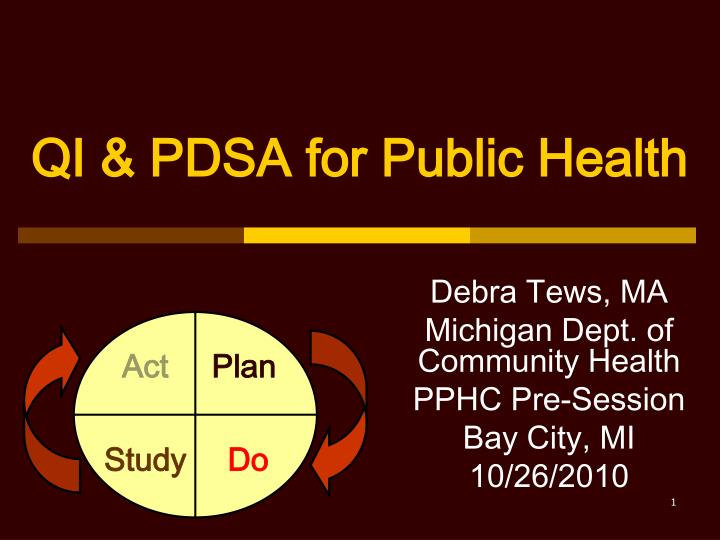 qi pdsa for public health n.