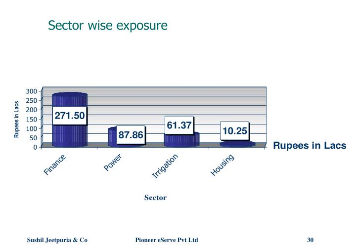 Sector wise exposure