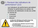 1 pourquoi des indicateurs de performance 2 2