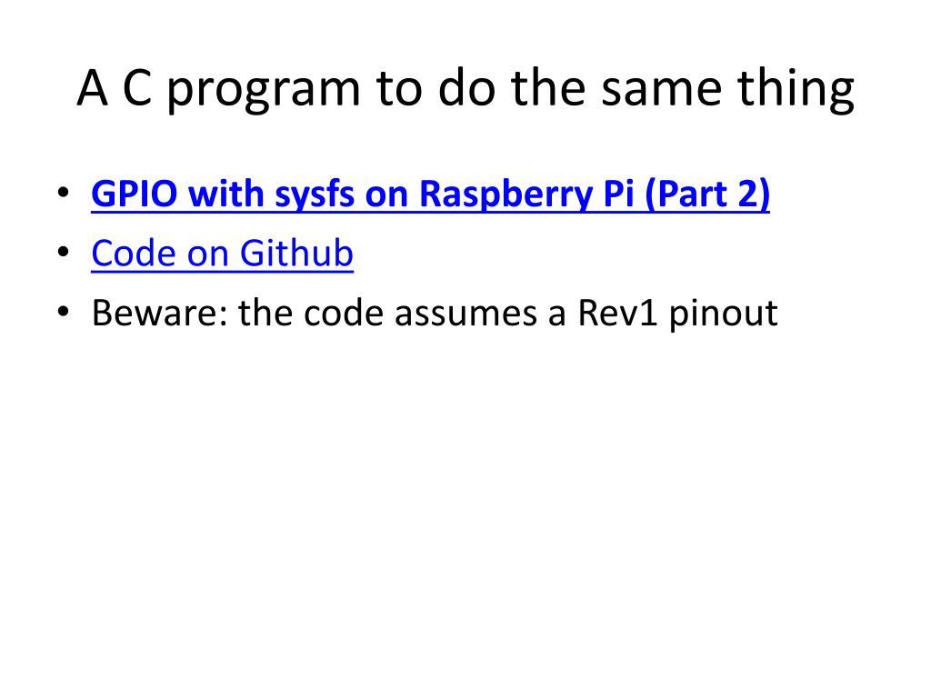 PPT - Raspberry Pi GPIO PowerPoint Presentation - ID:3210267