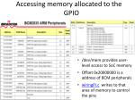accessing memory allocated to the gpio