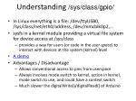 understanding sys class gpio