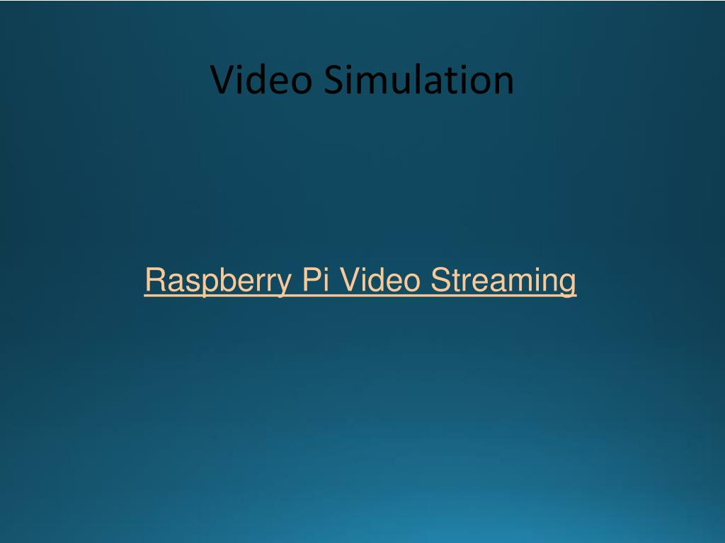 PPT - Eyes in the Sky: Wireless Video Streaming through