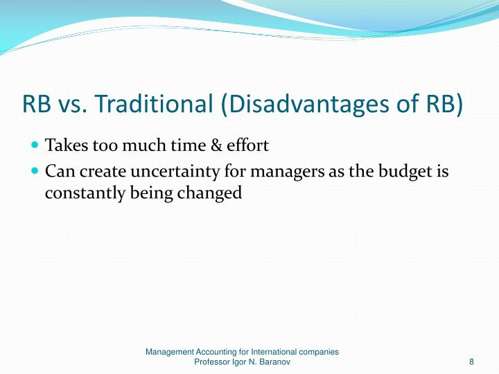 disadvantages of operating budgets Budgets can cause perceptions of unfairness budgets can create competition for resources and politics  a rigid budget structure reduces initiative and innovation at lower levels, making it impossible to obtain documents similar to advantages and disadvantages of budget control skip carousel.