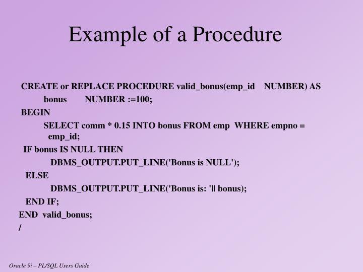 CREATE or REPLACE PROCEDURE valid_bonus(emp_id    NUMBER) AS