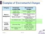 examples of environmental changes