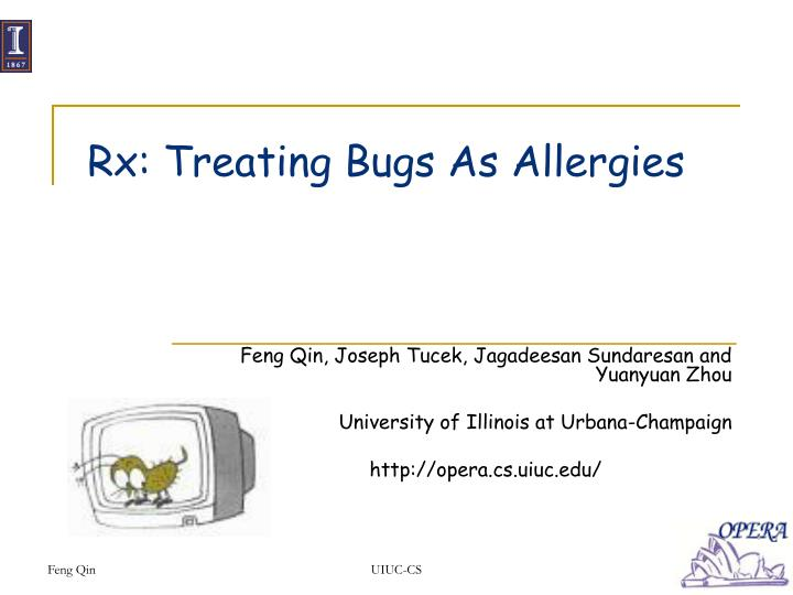 rx treating bugs as allergies n.