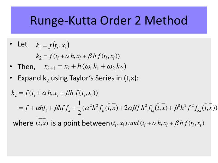 Runge-Kutta Order 2 Method