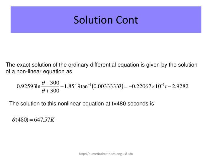 Solution Cont