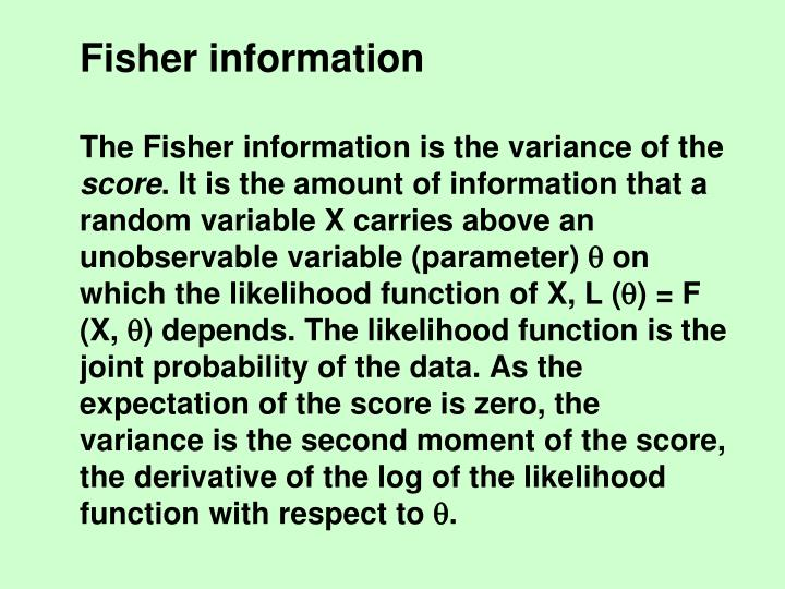 Fisher information
