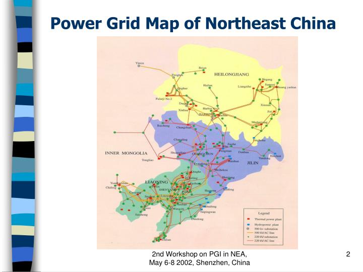 Power grid map of northeast china