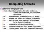 computing anovas