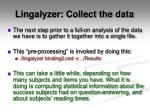 lingalyzer collect the data