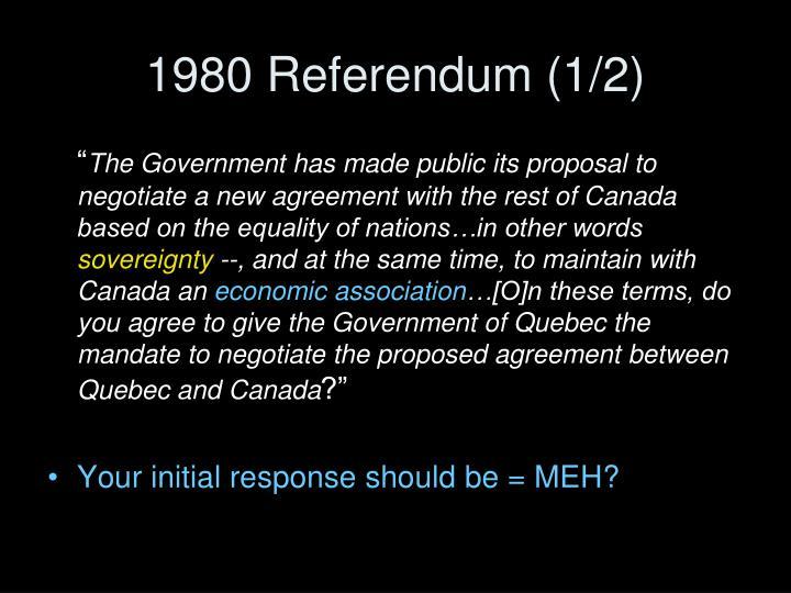 1980 Referendum (1/2)