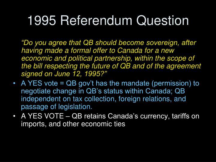 1995 Referendum Question