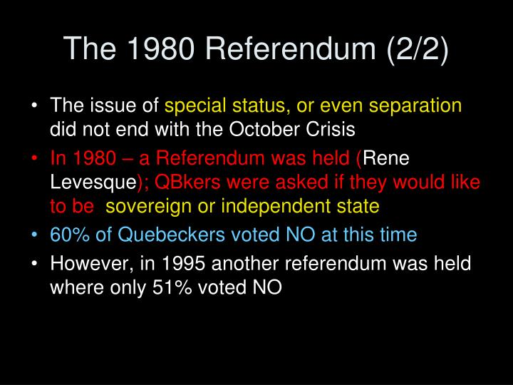 The 1980 Referendum (2/2)