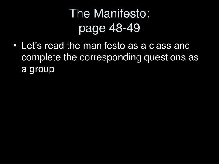 The Manifesto: