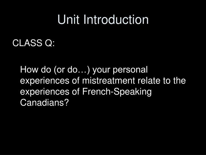 Unit introduction1