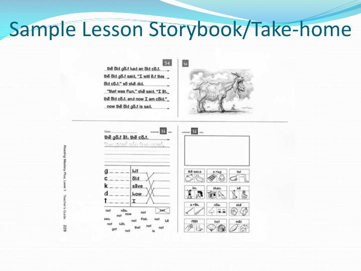 Sample Lesson Storybook/Take-home