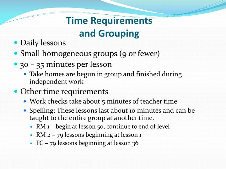 Time Requirements
