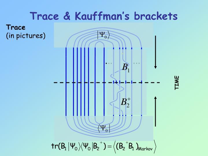 Trace & Kauffman's brackets