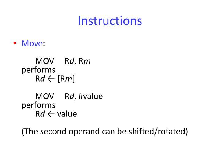 Instructions