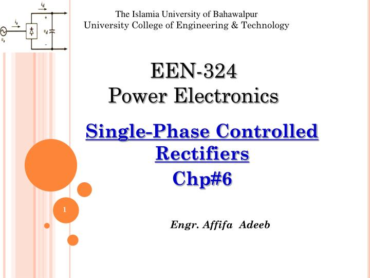 single phase controlled rectifiers chp 6 n.