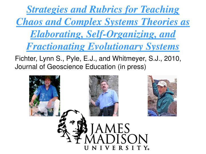 Strategies and Rubrics for Teaching Chaos and Complex Systems Theories as Elaborating, Self-Organizi...