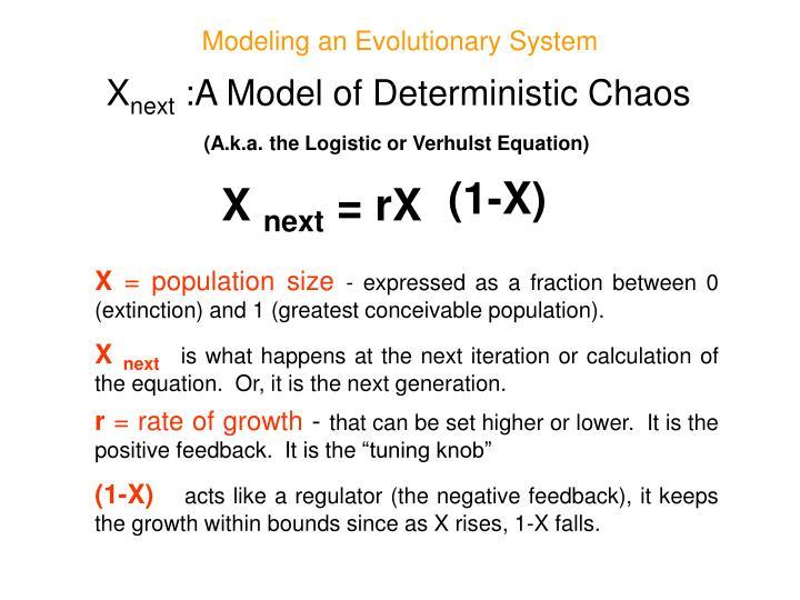 Modeling an Evolutionary System
